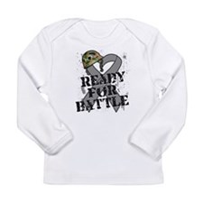 Battle Brain Cancer Long Sleeve Infant T-Shirt
