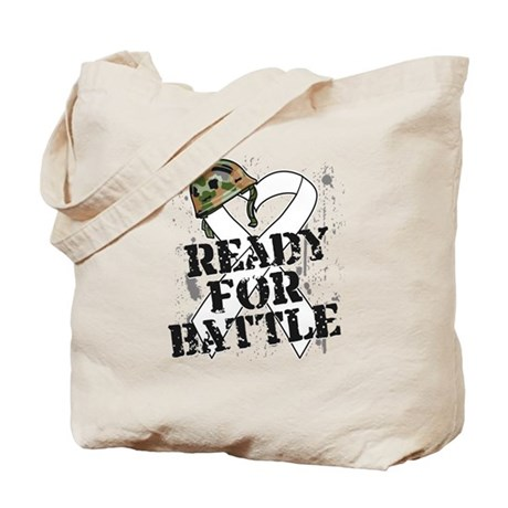 Battle Bone Cancer Tote Bag