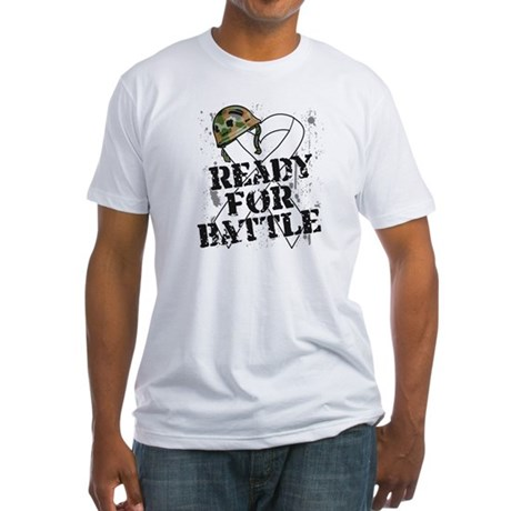 Battle Bone Cancer Fitted T-Shirt