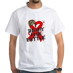 Battle Blood Cancer White T-Shirt