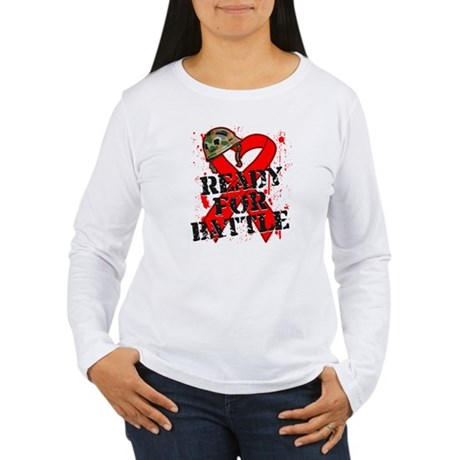Battle Blood Cancer Women's Long Sleeve T-Shirt