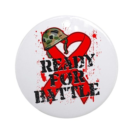 Battle Blood Cancer Ornament (Round)