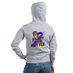 Battle Bladder Cancer Women's Zip Hoodie