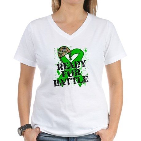 Battle Bile Duct Cancer Women's V-Neck T-Shirt