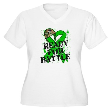 Battle Bile Duct Cancer Women's Plus Size V-Neck T
