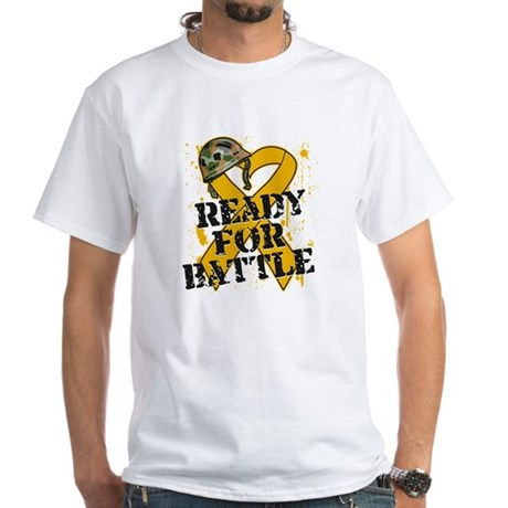 Battle Appendix Cancer White T-Shirt