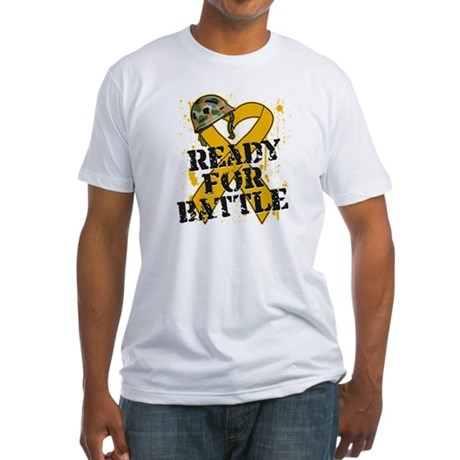 Battle Appendix Cancer Fitted T-Shirt