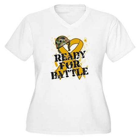 Battle Appendix Cancer Women's Plus Size V-Neck T-