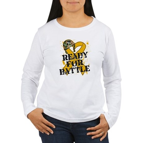 Battle Appendix Cancer Women's Long Sleeve T-Shirt