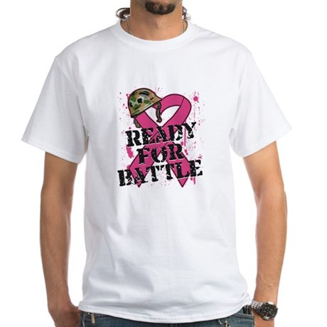 Battle Breast Cancer White T-Shirt