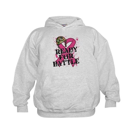 Battle Breast Cancer Kids Hoodie