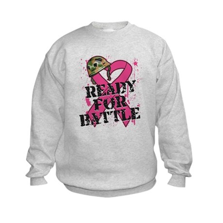 Battle Breast Cancer Kids Sweatshirt