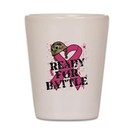 Battle Breast Cancer Shot Glass
