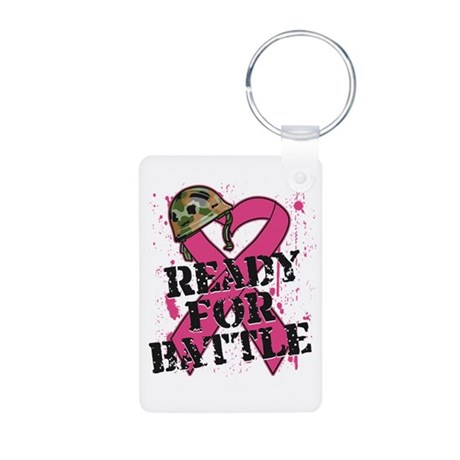 Battle Breast Cancer Aluminum Photo Keychain
