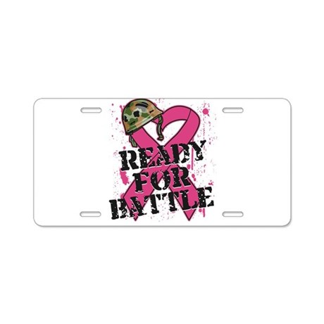 Battle Breast Cancer Aluminum License Plate