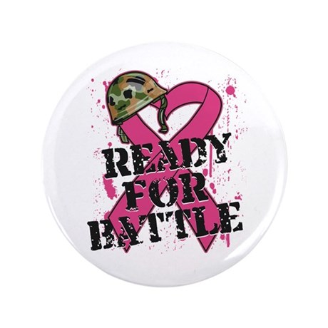 "Battle Breast Cancer 3.5"" Button"