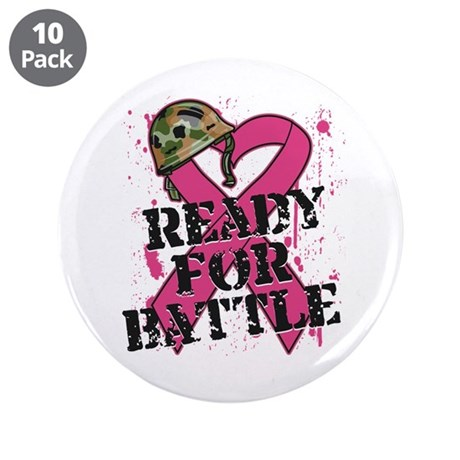 "Battle Breast Cancer 3.5"" Button (10 pack)"