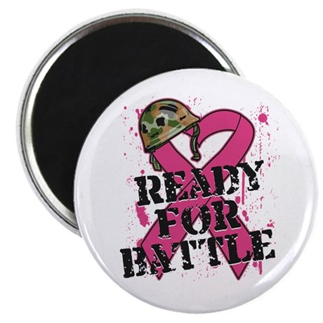 "Battle Breast Cancer 2.25"" Magnet (10 pack)"