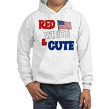Red white and cute Hoodie