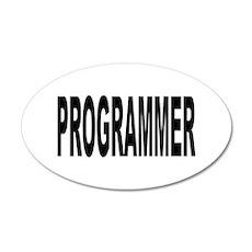 Programmer 22x14 Oval Wall Peel