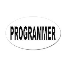 Programmer 38.5 x 24.5 Oval Wall Peel