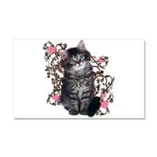 Cute Blue-eyed Tabby Cat Car Magnet 20 x 12