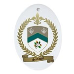 SANFACON Family Crest Oval Ornament