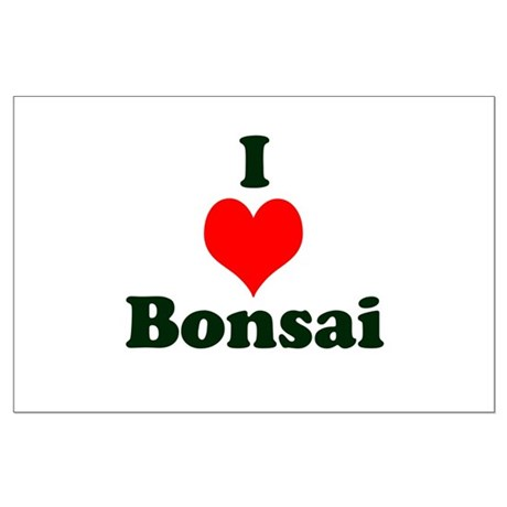 I Love Bonsai (with heart) Large Poster