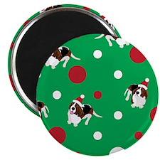 Holiday Bassets Magnet
