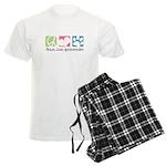 Peace, Love, Aussiedoodles Men's Light Pajamas