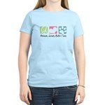 Peace, Love, Malti Tzus Women's Light T-Shirt