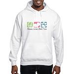 Peace, Love, Malti Tzus Hooded Sweatshirt