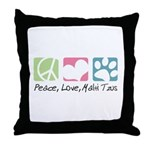 Peace, Love, Malti Tzus Throw Pillow