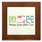 Peace, Love, Malti Tzus Framed Tile