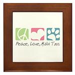 Peace, Love, Malti Tzus Framed Tile