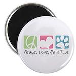 Peace, Love, Malti Tzus Magnet