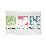 Peace, Love, Malti Tzus Rectangle Magnet (100 pack