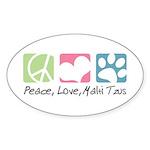 Peace, Love, Malti Tzus Sticker (Oval 10 pk)