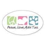 Peace, Love, Malti Tzus Sticker (Oval 50 pk)