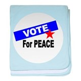 Vote For Peace baby blanket