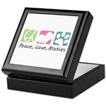 Peace, Love, Morkies Keepsake Box