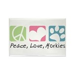 Peace, Love, Morkies Rectangle Magnet (100 pack)