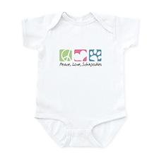 Peace, Love, Schnoodles Infant Bodysuit