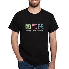 Peace, Love, Shorkies T-Shirt