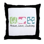 Peace, Love, Zuchons Throw Pillow
