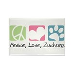 Peace, Love, Zuchons Rectangle Magnet (10 pack)