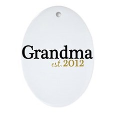 New Grandma Est 2012 Ornament (Oval)