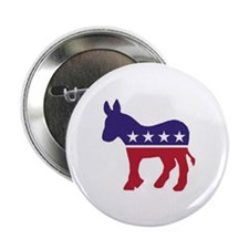 "Democrat Donkey 2.25"" Button (10 pack)"