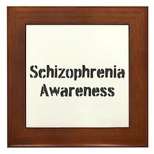 Schizophrenia Awareness Framed Tile