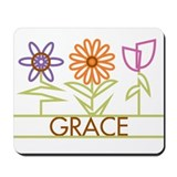 Grace with cute flowers Mousepad